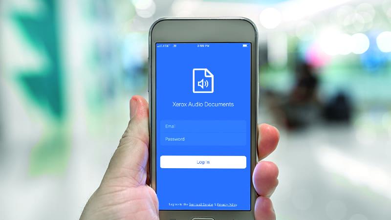 Audio Documents mobile screen