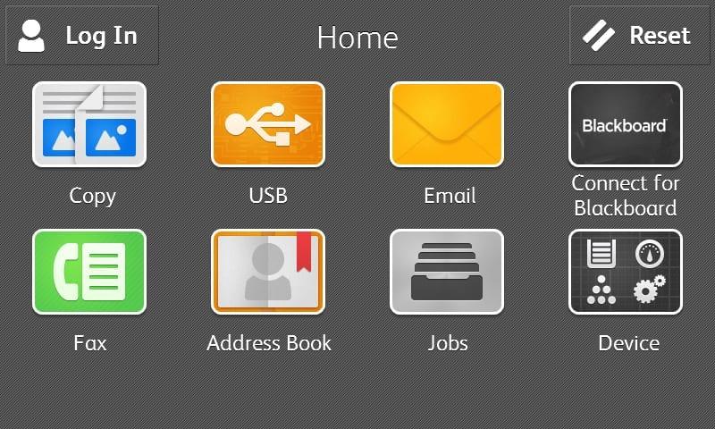 Blackboard home screen