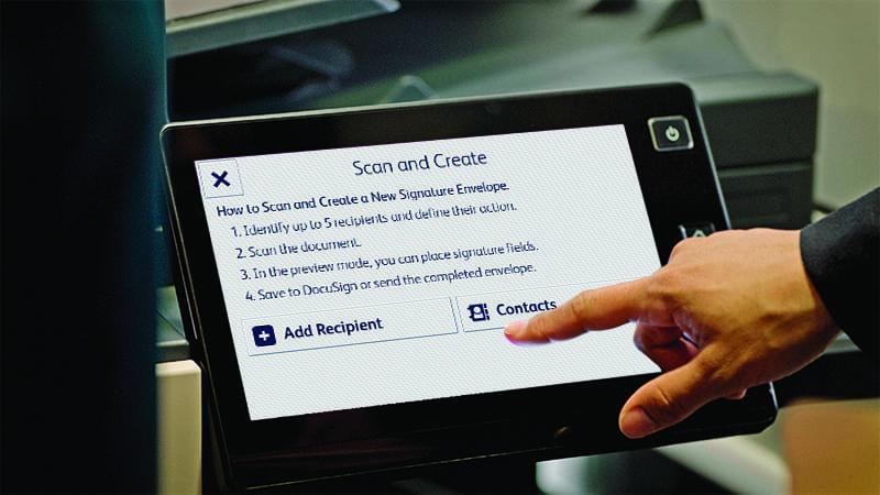 App tablet create DocuSign