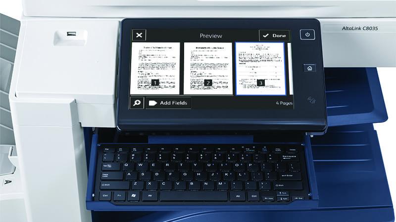 Scanner screen DocuSign app