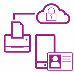 Icon violet secure network