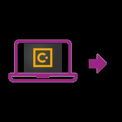 Laptop icon purple