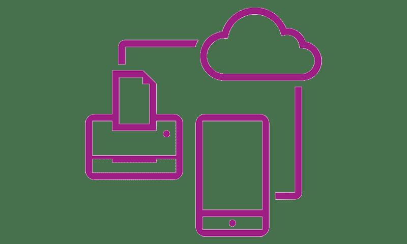 Network Icon violet