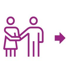 Partnership icon purple
