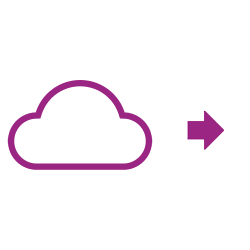 Cloud icon purple