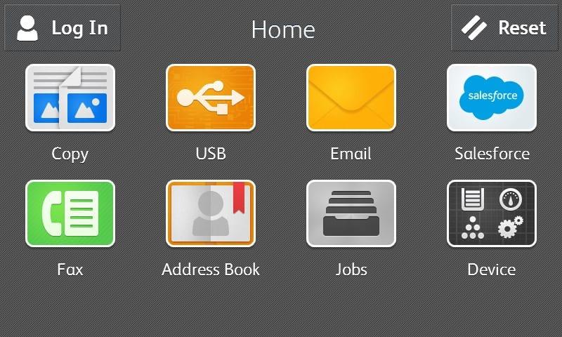 Salesforce app homepage screenshot