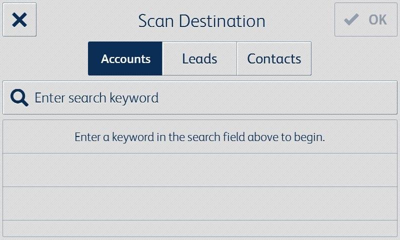 Salesforce app screenshot destination